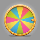Fortune wheel design element Royalty Free Stock Images
