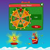 Fortune Wheel. The design elements of the game interface Stock Photos