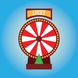 Fortune wheel for gambling concept. vector illustration. Fortune wheel for gambling and lucky game concept. vector illustration Royalty Free Illustration