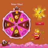 Fortune Wheel for the game interface. The design elements of the game interface Royalty Free Stock Images