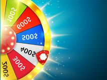 Fortune wheel with sparks. Casino background. Vector. Illustration Stock Photography