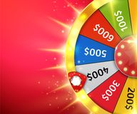 Fortune wheel with sparks. Casino background. Vector. Illustration Royalty Free Stock Photos
