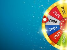 Fortune wheel with sparks. Casino background. Vector. Illustration Stock Images
