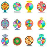 Fortune wheel vector spin game royalty free illustration