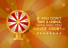 Free Fortune Wheel Vector Try To Win In Spin Game Casino Roulette Congratulation For Lucky Winner Backdrop Fortunate Wheeled Stock Image - 137146541