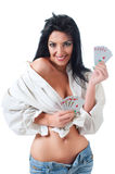 Fortune woman Royalty Free Stock Photo