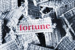 Fortune word Royalty Free Stock Photos