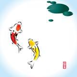 Fortune zen koi Stock Photos