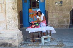 Fortuneteller in Havana stock photos