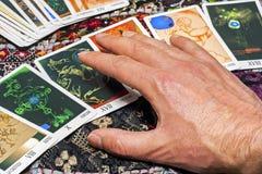Close up of cartomancy Stock Photos