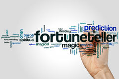 Fortuneteller word cloud. Concept on grey background Stock Image