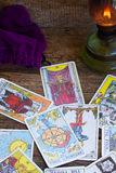 Fortunetelling with  Tarot cards Stock Images