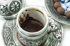 Fortunetelling with turkish coffee Stock Photography