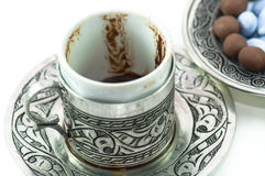 Fortunetelling with turkish coffee Royalty Free Stock Photo