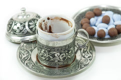 Fortunetelling with turkish coffee Royalty Free Stock Photos