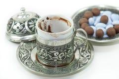 Fortunetelling z turecką kawą zdjęcia royalty free