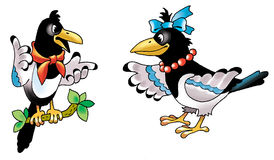 Forty bird. Figure humor thief fairy tale character Stock Image