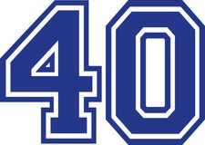 Forty college number 40. Vector Stock Image