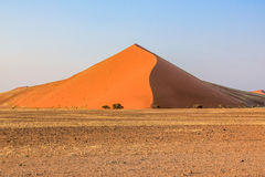 Forty Dune. The Dune forty is so named because it is located at the 45th km of the road from Sesriem to Sossusvlei. Namib Desert, Naukluft-National Park, Namibia royalty free stock image