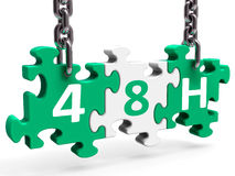 Forty Eight Hour On Puzzle Shows 48h 48hr Service Royalty Free Stock Images