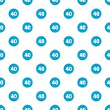 Forty figure pattern seamless. In flat style for any design Stock Photography