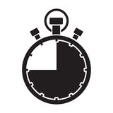 Forty five minute stop watch countdown. A forty five minute stop watch countdown royalty free illustration