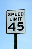 Forty five mph speed limit sign Stock Photo