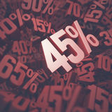 Forty Five Percent Discount Royalty Free Stock Photography