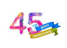 45 forty five years anniversary. Stock Photography