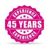 Forty-five years experience vector icon Royalty Free Stock Photos