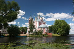 Forty Martyrs Church on the river Trubezh. Royalty Free Stock Photography
