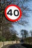 Forty mile per hour sign. royalty free stock image