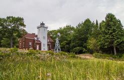 Forty Mile Point Lighthouse Stock Photos