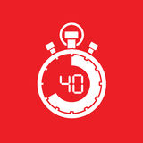 Forty minute stop watch countdown. A forty minute stop watch countdown vector illustration