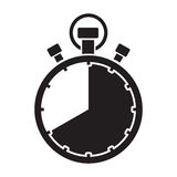 Forty minute stop watch countdown. A forty minute stop watch countdown stock illustration