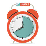 Forty Minutes Stop Watch - Alarm Clock Royalty Free Stock Photography