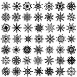 Forty nine vector snowflakes. Stock Image