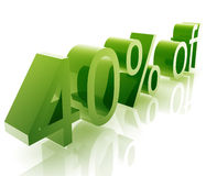 Forty percent discount Stock Photography