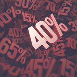 Forty Percent Discount Royalty Free Stock Images