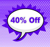 Forty Percent Off Means Savings Retail And Merchandise Stock Images