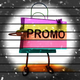 Forty Percent Reduced On Bags Shows 40 Bargains Royalty Free Stock Photography