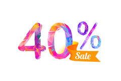 40 forty percents sale. Vector triangular digits royalty free illustration