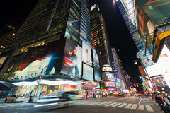 Forty-second Street in Manhattan royalty free stock photos