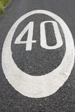 Forty Speed Limit Sign Stock Photography