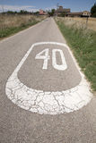 Forty Speed Sign. In a Rural Setting royalty free stock images
