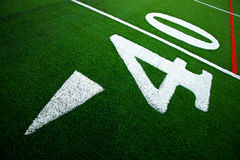 Forty yard line. On artificial turf royalty free stock photos