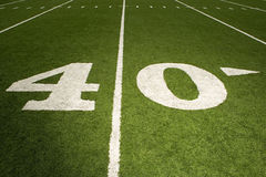 Forty yard line Stock Photos