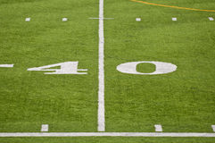 The Forty Yard Line Stock Images