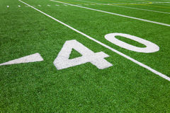 Forty yard line - football Royalty Free Stock Photography