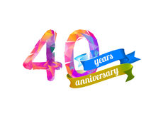 40 forty years anniversary. Vector triangular digits Stock Image